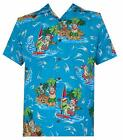 Hawaiian Shirts Mens Reindeer Santa Beach Aloha Casual Holiday Short Sleeve Camp