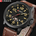 CURREN Men Watches Top Brand Luxury Quartz Wrist Watch Leather Band Reloj Hombre image