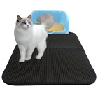 Cat Trap Litter Mat Waterproof Rubber Foldable Double Layer Pat Pet Rug Home