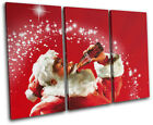 Vintage Coca Cola  Xmas Santa Food Kitchen TREBLE CANVAS WALL ART Picture Print £27.99  on eBay