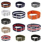 Canvas Nylon Military Striped Replacement Wrist Watch Bands Strap 18/20/22mm USA image