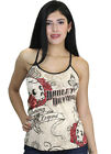 Harley-Davidson Ladies Rose Skull Racer Back String Ivory Tank Top $14.99 USD on eBay