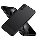 NEW Ultra Slim Carbon Fiber Soft Rubber Case Cover For iPhone X Free us shipping