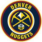 Denver Nuggets Circle Logo Vinyl Decal / Sticker 5 sizes!!