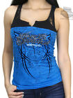 Harley-Davidson Ladies Studded Lace Yoke Blue Sleeveless Tank Top $19.99 USD on eBay