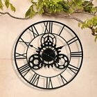 Outdoor Metal Garden Wall Clock Roman Numeral With Cog Large Round Face 57cm NEW <br/> 12 Months Guarantee - Free Delivery - 30 Day Returns