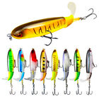 Fishing Lure Surface Whopper Plopper Topwater Floating  Rotating Tail Crankbaits