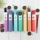 Delicate Fragrance Chakra Incense Sticks with Chakra Symbol Wooden Ash Catcher