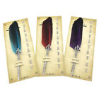 JQ  Antique Feather Pen Fountain Quill Dip Writing Stationery Teachers' Gift
