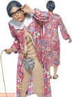 Ladies Gravity Groping Granny Costume Adult Flasher Womens Hen Party Fancy Dress