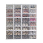 12Pcs Foldable Shoe Box Storage Plastic Transparent Case Stackable Organizer