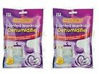 2 X HANGING SCENTED WARDRPBE DEHUMIDIFIER, LAVANDER, ROSE OR FEWSH LINEN
