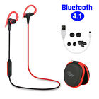 Wireless Headset Neckband Earphone Headphone Earbud Retractable Stereo NEW