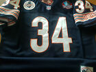 BRAND NEW Chicago Bears #34 Walter Payton Throwback Blue Dual Patch Jersey Mens