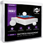 Waterproof Zippered Matress Encasement Advance Zipper Flap Mattress Bed Cover  image