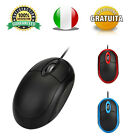 Mouse Ottico Mini con Filo Usb Piccolo Ergonomico Notebook PC Sottile 1200dpi