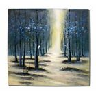 """White as Snow"" Trees Birds Forest Sunlit Path Canvas Oil Painting Wall Art"