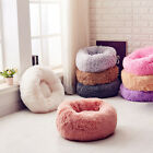 Pet Cat  Dog Round Nest Soft Warm Plush Comfortable Calming Mat Bed for Sleeping