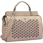 Dasein Designer Holes and Weave Strap Shoulder Bag