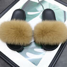 UK Women Real Fur Flat Shoes Fluffy Flip Flop Slippers Sliders Sandals Xmas Gift <br/> √ Best price √ The fastest shipping √