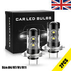 H1 H11 H4 H7 Led Headlight Foglight 50w Car Bulbs Kit 6000k Hid Decoder Canbus