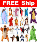 Unisex Adult Pajamas Kigurumi Cosplay Costume Animal Sleepwear Suit+