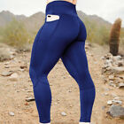 Womens Yoga Leggings with Pockets High Waist Sports Fitness Stretch Pants US