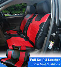 Full Sets Leather like Car Seats Cushion Covers for Scion # 80255 BK/Red on eBay
