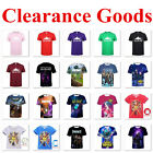 Casual Short Sleeves T-shirt Game 3D Print Tee Women Men Teenagers Kids