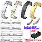 20/22mm Stainless Steel Metal Watch Strap Band Mens Wrist Buckle Strap Tools US image