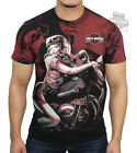 Harley-Davidson Mens Pinup Black Short Sleeve T-Shirt Panhead Sliding The Curve image