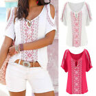 Fashion Women Summer Short Sleeve Shirt Casual Blouse Loose Cotton Tops T Shirt