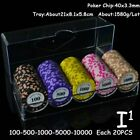 Poker Chips Set Texas Hold'em Tokens Casino 14g Clay Coins 100 Pieces Card Game
