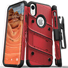 Zizo Bolt Series Military Grade Tough Case with Glass for Apple iPhone XR