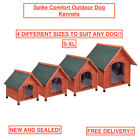 NEW EASY ASSEMBLE Outdoor Dog Kennel Waterproof Raised Wooden Dog Shelter Crate