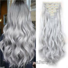 Real Long 100% Natural Extensions Clip in HAIR EXTENTIONS 18 Clips On Sott Hair