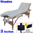 NEW 2/3 FOLD PORTABLE ALUMINIUM MASSAGE TABLE WHITE WIDE TABLE SURFACE STURDY