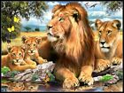 Lions by the Pool - Counted Cross Stitch Patterns DIY Needlework for embroidery $9.99 USD on eBay