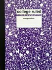 Composition Notebooks - Wide & College Ruled - School & Office Supplies