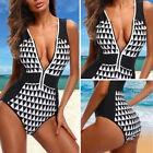 Retro Women Push Up Bikini Padded One Piece Monokini Zipper Swimsuit Swimwear $5.57 USD on eBay