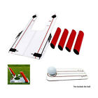 Golf Swing Trainer Pro Speed Trap Base Aid 4 Rods Hitting Practice Training Tool
