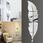 3d Feather Dressing Mirror Wall Sticker Home Decal Room Decor Mural Art Diy M