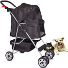 4 Wheels Pet Stroller Cat Dog Cage Stroller Walk Travel Folding Carrier 5 Color