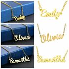 Women Stainless Steel Lettering Name Pendant Chain Necklace Chain Jewellery Gift