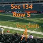 2 Awesome Colts vs. Bengals Tickets  - Great Lowers Row 5 !   Sec. 134 (Visitor) $75.0 USD on eBay