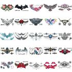 Women Sexy Tattoo Temporary Animal Bat  Flower Tattoos Sticker Fake Tatoo Body $1.36 USD on eBay