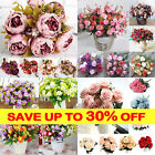 Artificial Peony/Hydrangea /Daisy/Bouquet Bunch Flower Wedding Home Party^Decorz
