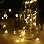 LED Stars Battery String Fairy Lights Warm White Copper Wire Room Indoor Outdoor