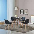Wooden Dining Table Contemporary Kitchen Room Furniture Beech Cafe Desk Wood Leg