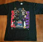 Vintage Michael Jordan Magic Johnson Chicago Bulls T shirt reprint S-234XL DD174 image